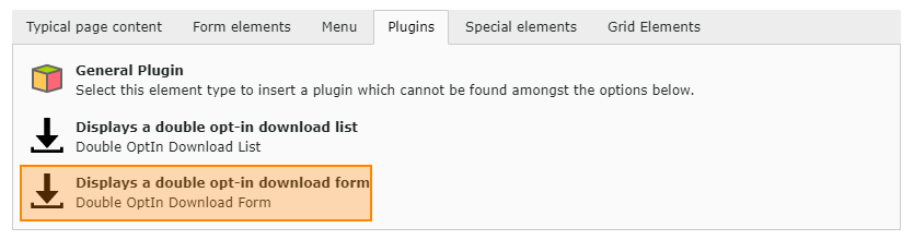 Plug-In: Form