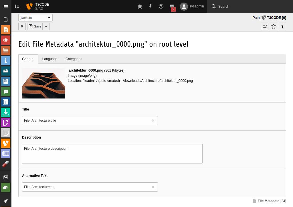 Datei Metadaten bearbeiten