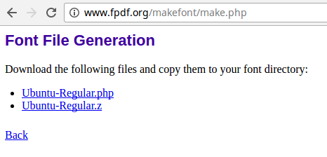 Fluid-FPDF Font-Converting Result