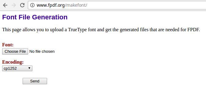 Fluid-FPDF Font-Converting Tool