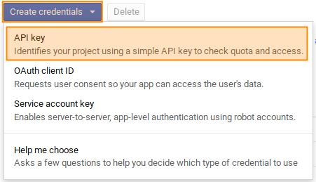 Google-Maps API-Schüssel anfordern